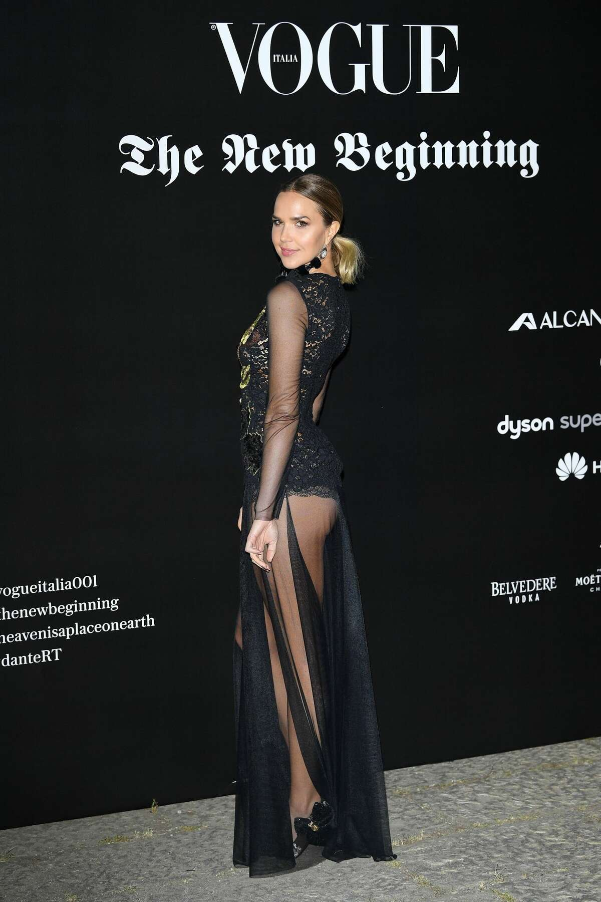 Arielle Kebbel attends theVogue Italia 'The New Beginning' Party during Milan Fashion Week Spring/Summer 2018 on September 22, 2017 in Milan, Italy.
