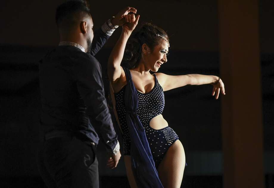 Daniel Peña and Karla Guerra dance to a custom mix on Friday, Sept. 22, 2017, at the Laredo Country Club during the Dancing with the Stars Laredo Style event by the Women's City Club. Photo: Danny Zaragoza/Laredo Morning Times