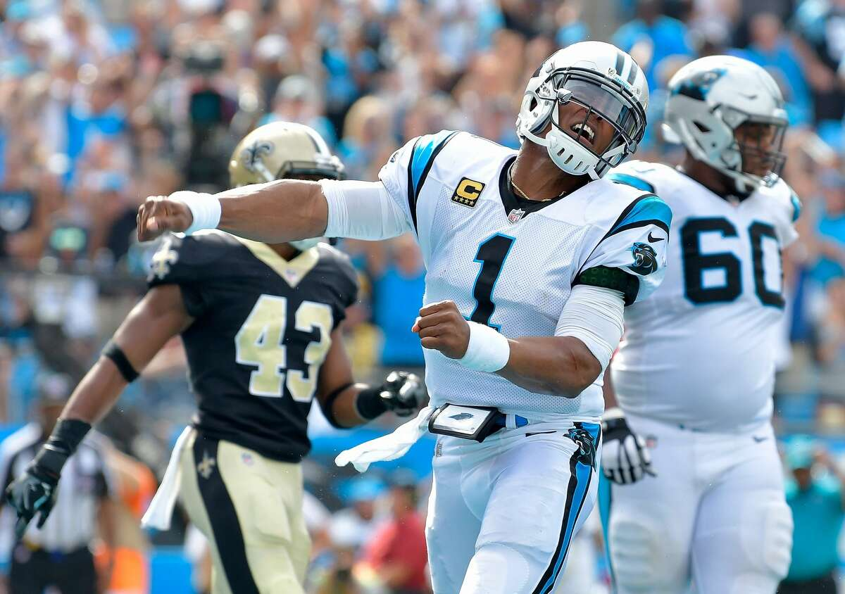 Cam Newton really struggled against the Saints. Hew threw three interceptions in the Panthers' blowout loss to the Saints 34-13.