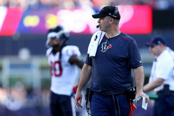 FOXBORO, MA - SEPTEMBER 24: Head coach Bill O'Brien of the Houston Texans looks on during the second half against the New England Patriots at Gillette Stadium on September 24, 2017 in Foxboro, Massachusetts.(Photo by Maddie Meyer/Getty Images)