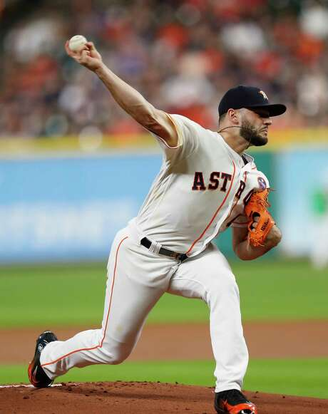 Lance McCullers Jr. didn't make it through the fourth inning against the Angels on Sunday but is capable of providing a playoff spark. Photo: Karen Warren, Staff / @ 2017 Houston Chronicle