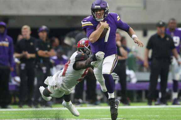 Vikings quarterback Case Keenum was at his best Sunday, throwing for a career-high 369 yards and three TDs in a win over the Buccaneers.
