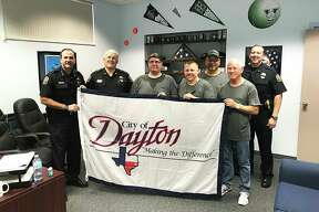Dayton city leaders presented Dayton flag to the city of Venice. The Floridians promised to fly the flag on the day of their next city council meeting.