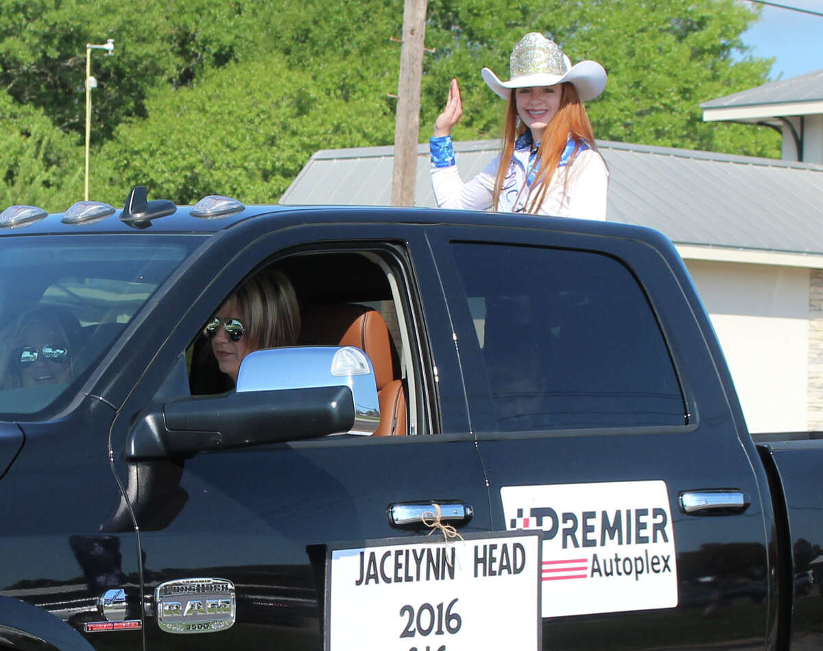 2016 San Jacinto County Fair and Rodeo Queen Jacelynn waves to the crowd during the 2017 parade on Sept. 23.