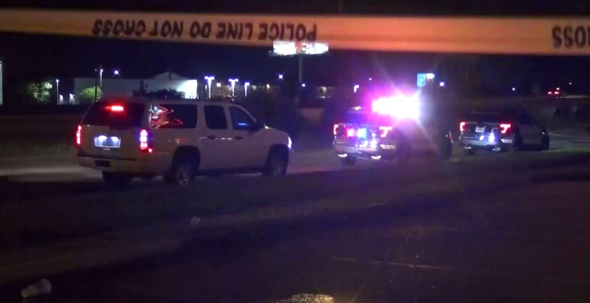 A man opened fire at police officers late Sunday outside of a southwest Houston Tex-Mex restaurant. (Metro Video)