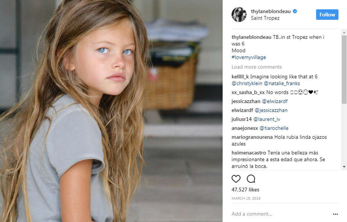 Thylane Blondeau at the age of six.  >> See some of the best, weirdest look from the Milan Fashion Week runways Photo: Thylane Blondeau Instagram