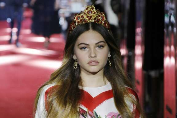 Thylane Blondeau — who was declared the world most beautiful girl at the age of six — owned the runway at the Dolce & Gabbana secret show.
