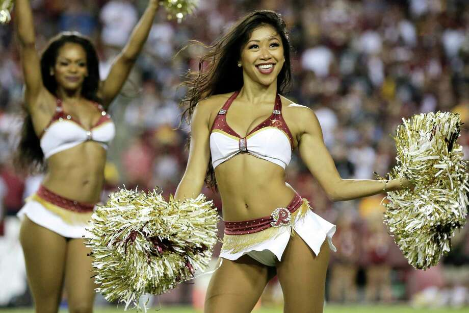 Washington Redskins cheerleaders perform during an NFL football game between the Oakland Raiders and Washington Redskins, Sunday, Sept. 24, 2017, in Landover, Md. (AP Photo/Mark Tenally) Photo: Mark Tenally, Associated Press / FRE170908 AP
