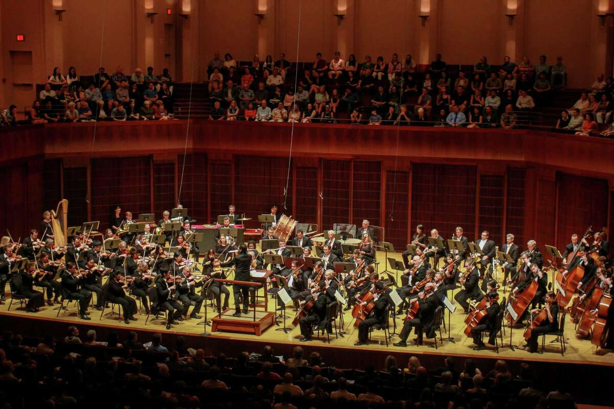The Houston Symphony performing at Stude Hall at Rice University. (For the Chronicle/Gary Fountain, September 23, 2017)