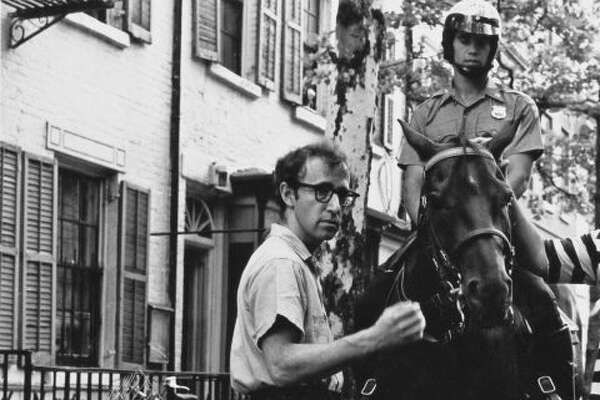 22) Woody Allen in the set of an unidentified film