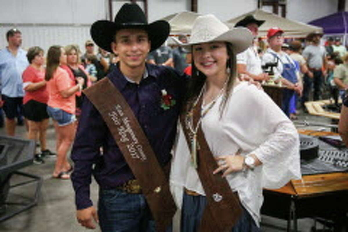 2017 Fair King John Hodge and 2017 Fair Queen Madison Brown pose for a photo during the East Montgomery County Fair and Rodeo on Saturday, Sept. 23, 2017, at A.V. 'Bull' Sallas Park in New Caney.