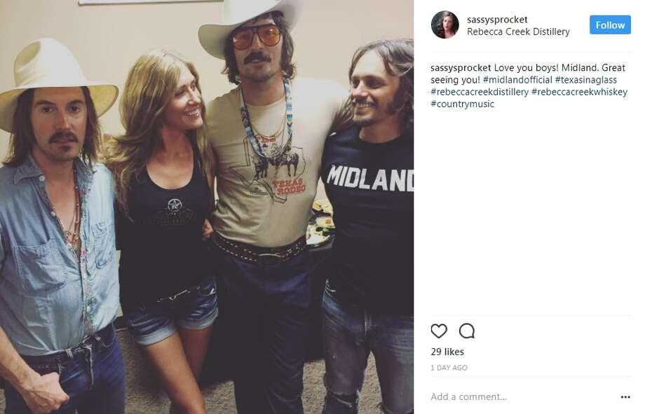 sassysprocket: Love you boys! Midland. Great seeing you! #midlandofficial #texasinaglass #rebeccacreekdistillery #rebeccacreekwhiskey #countrymusic Photo: Intagram.com