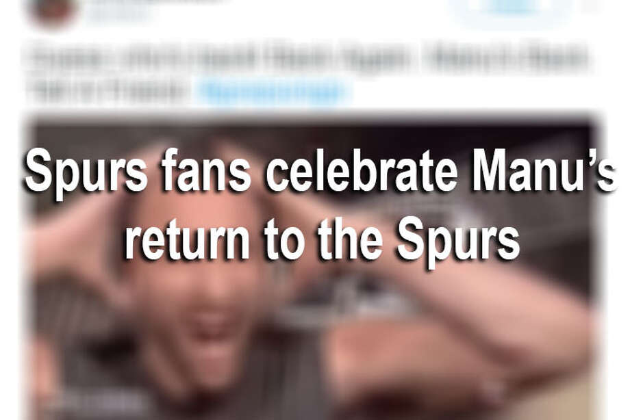 Spurs legend Manu Ginobili has decided to spend one more year with the San Antonio   team.Click ahead to view how Spurs fans celebrated Manu Ginobili's return following retirement speculations. Photo: File