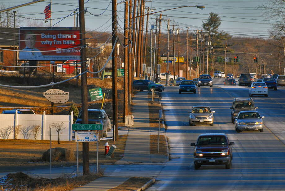 A view of Columbia Turnpike, looking east in East Greenbush, in 2010. The 2018 East Greenbush budget wants to put $10,000 in for sprucing up the turnpike. (Philip Kamrass / Times Union) Photo: PHILIP KAMRASS, ALBANY TIMES UNION / 00007452A