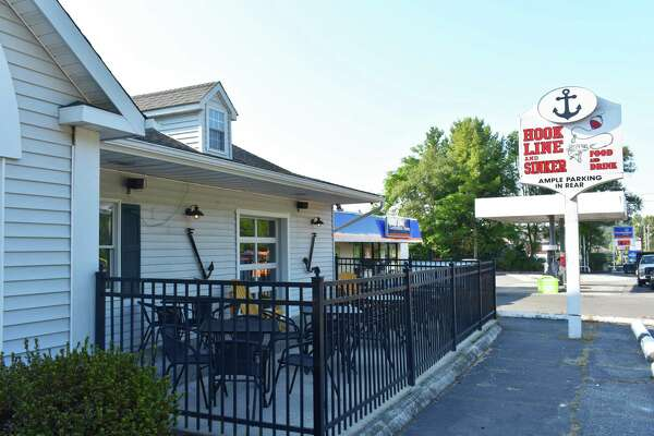 458 River Road, Shelton — Hook, Line and Sinker at 458 River Road in Shelton, in September 2017. The restaurant took over the main level that was formerly Danny O's Bar & Grille which closed in June, with David M. Grant Caterers continuing to occupy the lower level.