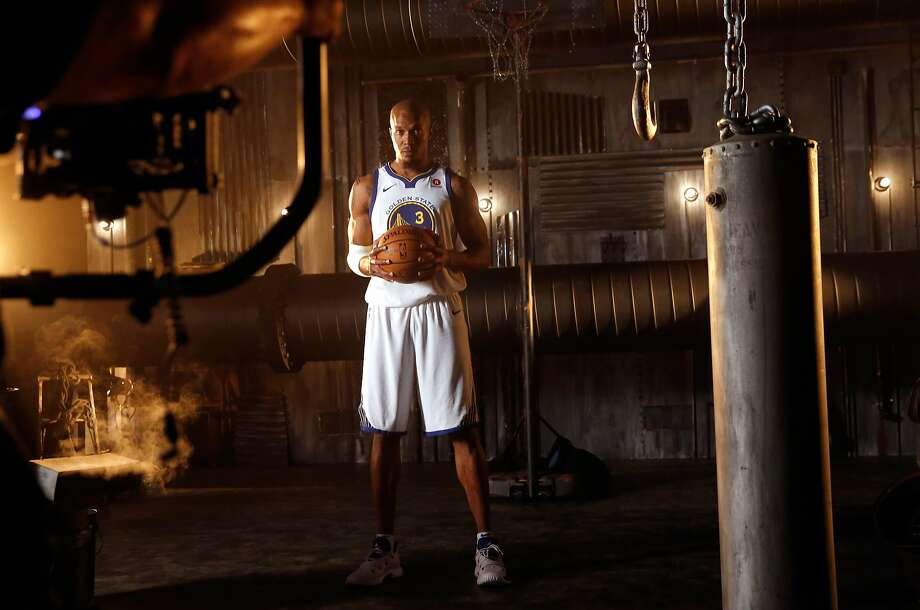Warriors' David West during 2017 media day for the NBA's Golden State Warriors in Oakland, Ca., on Friday September 22,  2017. Photo: Michael Macor, The Chronicle
