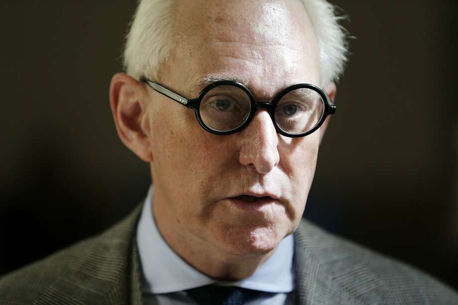 FILE - In this March 30, 2017, file photo, Roger Stone talks to reporters outside a courtroom in New York. The House intelligence panel will interview two of President Donald Trump�s associates behind closed doors this week as congressional committees step up their investigations into Russian meddling in the 2016 election. Longtime Trump associate Roger Stone and former staffer Boris Epshteyn will talk to the House panel. Stone will be interviewed on Sept. 26.  (AP Photo/Seth Wenig, File) Photo: Seth Wenig, Associated Press