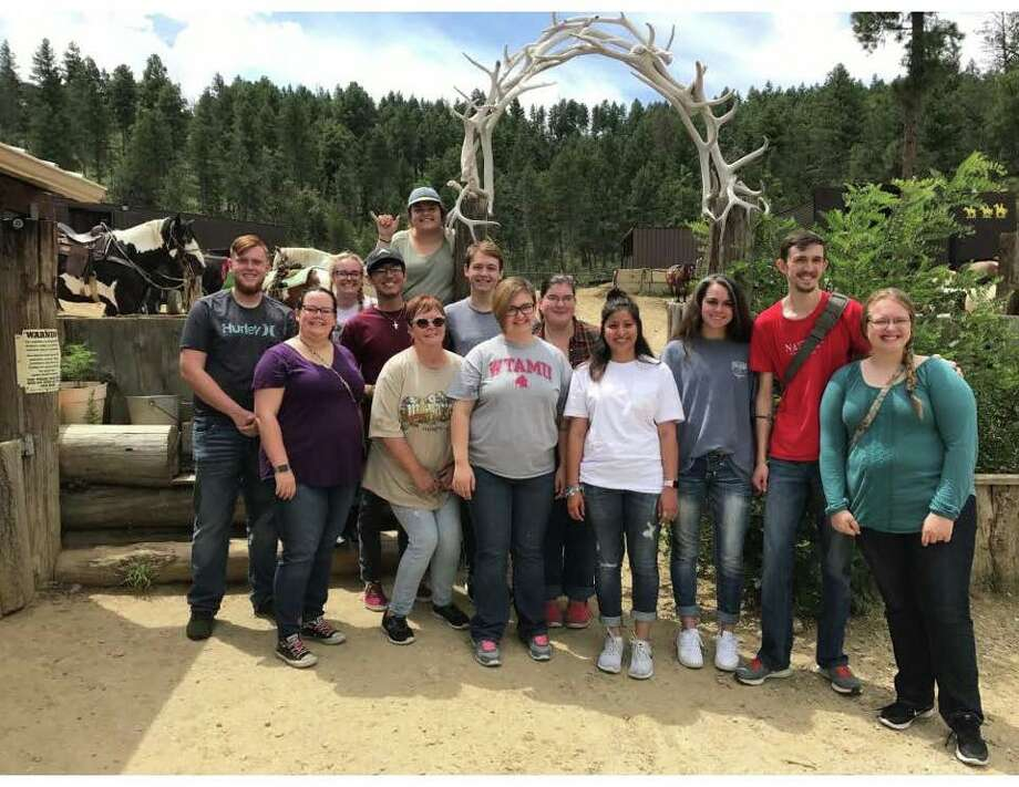 The West Texas A&M Forensics Team has returned from its annual semester retreat in Ruidoso, New Mexico. Two area students are members, Caroline Vick of Abernathy and Carlos Perez of Olton.