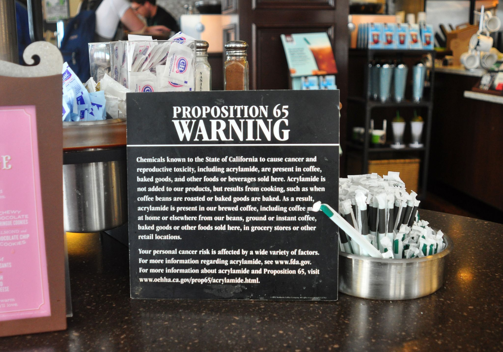 Coffee sold in California could carry cancer warning labels
