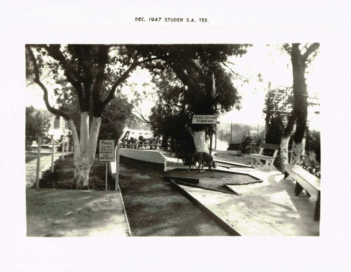 Cool Crest Miniature Golf originally started with just one 18-hole course, as seen in this 1947 photo. Owners Harold and Maria