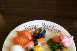 Sushi at King Buffet.  King Buffet  6200 Bandera Road  San Antonio, TX. 78238  (210) 647-8888  www.KingBuffetSA.com