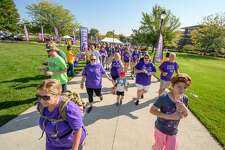 The Walk to End Alzheimer's at Dow Diamond Saturday, Sept. 23, 2017. (Steven Simpkins/for the Daily News)