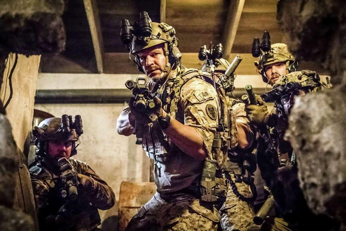 David Boreanaz plays Jason Hayes, center, in the military drama