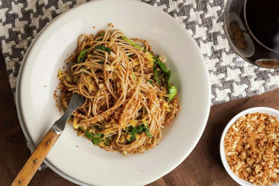 Bread Crumb Spaghetti is based on a traditional Italian dish. Photo: Goran Kosanovic / For The Washington Post