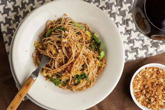 Bread Crumb Spaghetti is based on a traditional Italian dish.