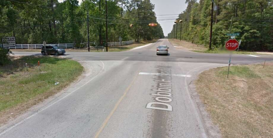 A 911 caller reported seeing a motorcycle in a ditch near Dobbin Huffsmith Road near Hardin Store Road around 2 a.m. The caller could see the crash victim lying motionless near the bike, according to medics. With firefighters and paramedics arrived, they confirmed the motorcycle driver was dead. Photo: Google Maps