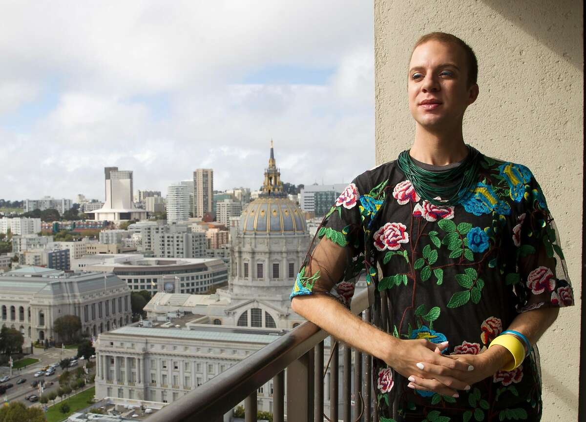 Mark Snyder on their balcony at home on Wednesday, September 20, 2017, in San Francisco, Calif. Instead of just having male or female designations, Snyder has strong hopes that legislation will pass in California creating a gender-neutral �X� identifier on ID cards.
