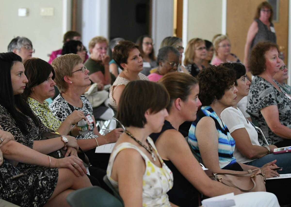 A meeting of 100 Women Who Care, Albany chapter at Delmar Reformed Church on Thursday Aug. 11, 2016 in Delmar, N.Y. (Michael P. Farrell/Times Union)