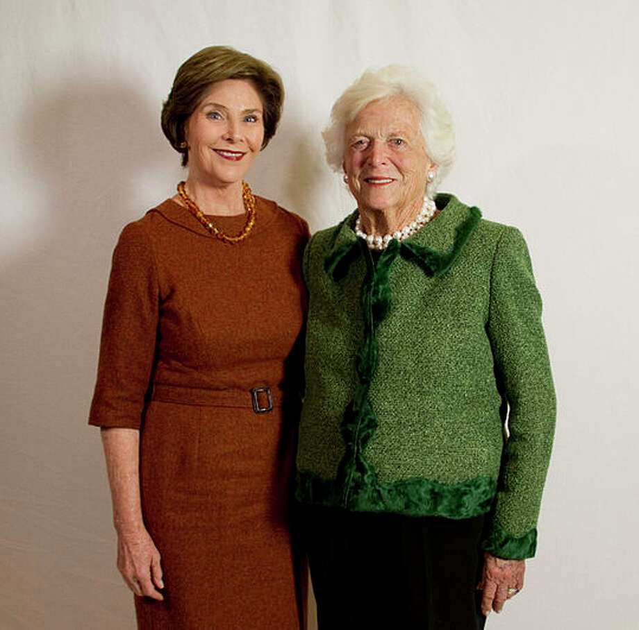 Former First Ladies Barbara and Laura Bush pledged a combined $2 million to help public schools and libraries after Hurricanes Harvey and Irma. Photo: George W. Bush Presidential Center
