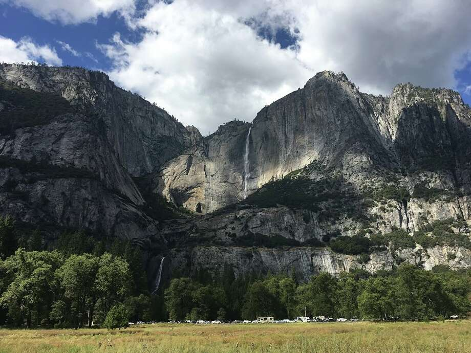 "Yosemite Falls got extra pizzazz in September after rain and snowfall fed into Yosemite Creek. Yosemite National Park shared on Facebook: ""As these falls are typically dry this time of year, it's pretty exciting to see them thrive!"" Photo: Yosemite National Park"