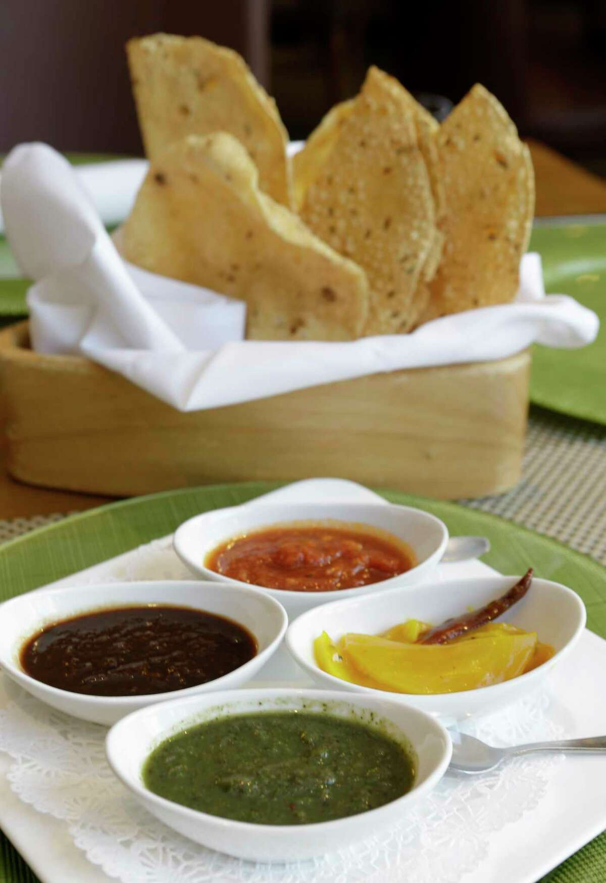 Pappadums, served with superlative house chutneys, are wonderfully textured.