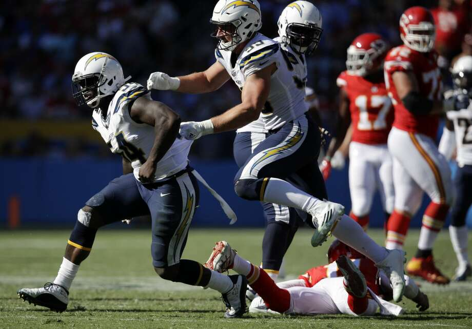 28. Los Angeles Chargers (0-3)Previous: 23The Chargers may be winless in their first year since leaving San Diego, but don't blame Melvin Ingram, who leads the NFL with 5.5 sacks. Photo: Jae C. Hong/AP