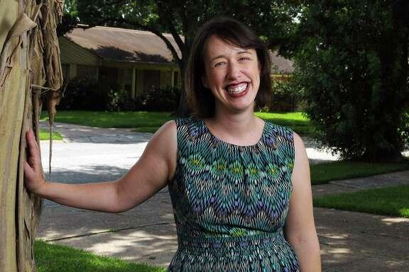 Author Jennifer Mathieu at her Meyerland home Wednesday July 02, 2014. (Dave Rossman photo)