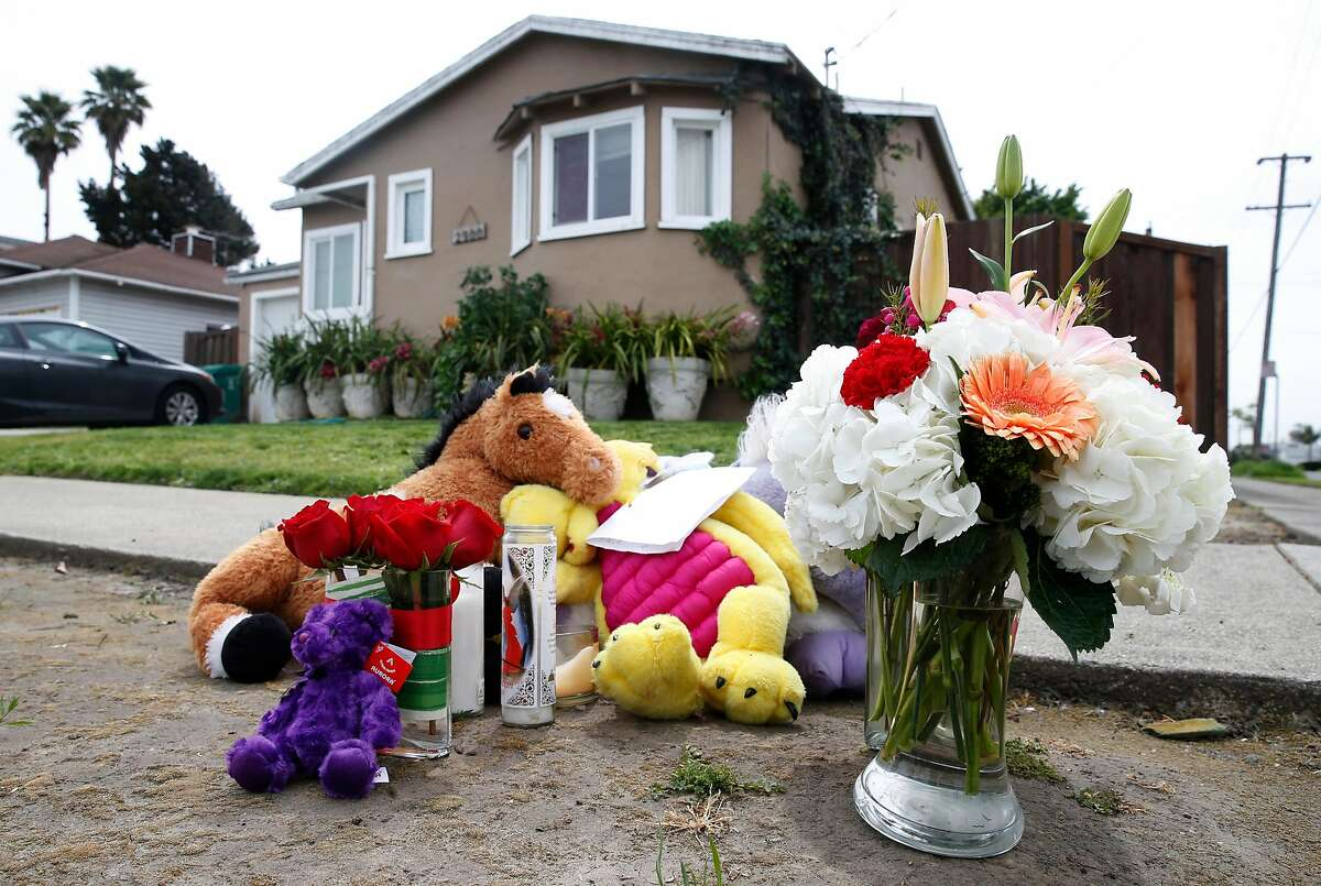 A memorial shrine at 29th Street and Rheem Avenue in Richmond, Calif. in 2017, where Rashanda Franklin, the victim of what police believe was a domestic violence murder, died Tuesday. Author Nour Naas argues that most institutions that are supposed to protect domestic violence victims are failing them.