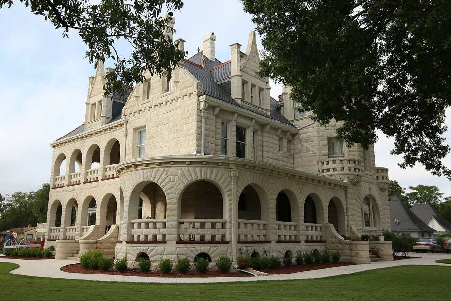 """The Lambermont at 950 East Grayson, photographed in October 2012, was built in 1894 by Edwin Holland Terrell, a lawyer and ambassador to Belgium under President Benjamin Harrison. Pat and Dona Liston bought the house in 2008. The place once referred to as the """"Terrell Castle"""" and designed by Alfred Giles, is now a wedding and special events venue. Photo: Jerry Lara /San Antonio Express-News / © 2012 San Antonio Express-News"""