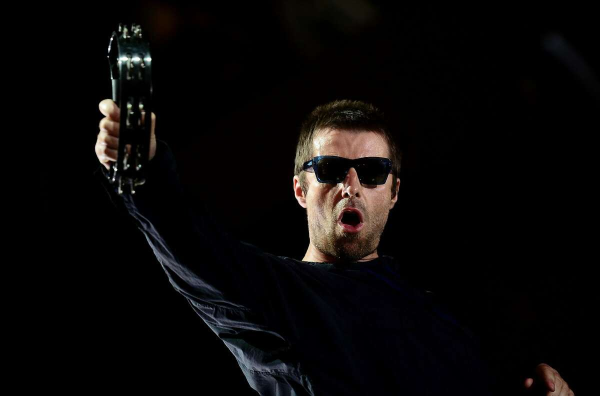 British singer Liam Gallagher performs on the fourth day of the Benicassim International Festival (FIB) in Benicasim on July 15, 2017. The Benicassim Festival Internacional of Benicassim (FIB) is a four-day music festival on the east coast of Spain between Valencia and Castellon. The FIB 2017 runs from July 13 to July 16, 2017 / AFP PHOTO / JOSE JORDANJOSE JORDAN/AFP/Getty Images