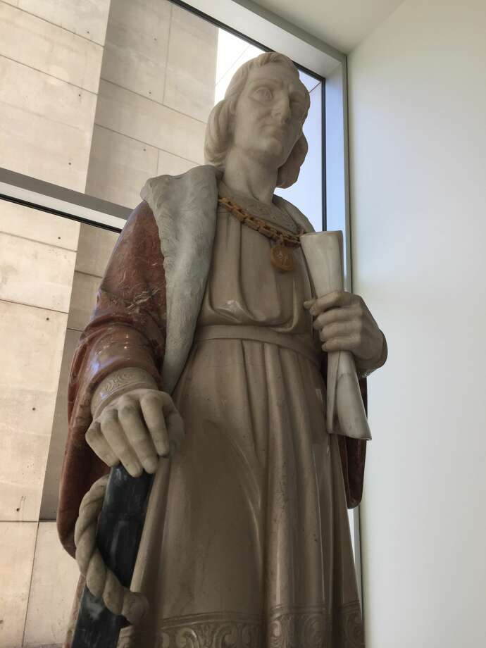 San Jose City Council voted Tuesday night to set a six-week deadline find a new home for the Christopher Columbus statue currently in the lobby of City Hall. Photo: Cheryl Wessling