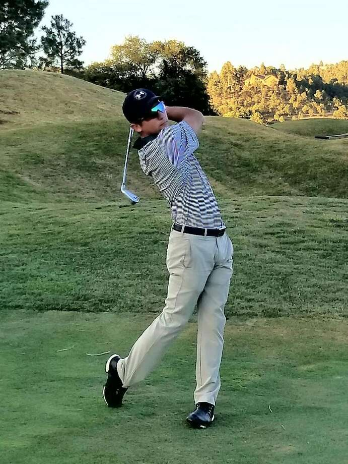 Midland College sophomore golfer Michael Salazar is shown in action during the High Country Shootout at the Links at Sierra Blanca in Ruidoso, N.M. Courtesy photo