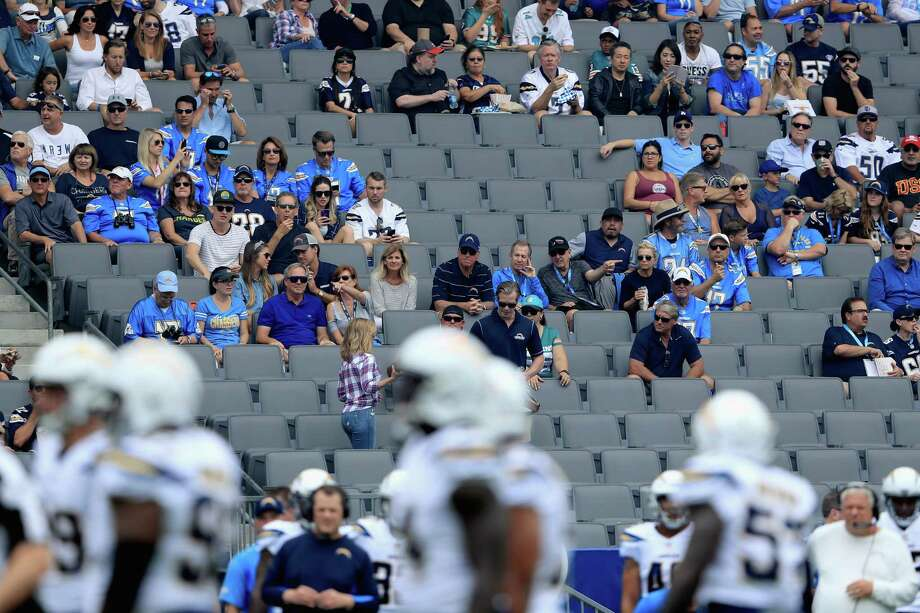 CARSON, CA - SEPTEMBER 17:  A general view of empty seats during the first half of a game between the Los Angeles Chargers and the Miami Dolphins  at StubHub Center on September 17, 2017 in Carson, California.  (Photo by Sean M. Haffey/Getty Images) ORG XMIT: 700070621 Photo: Sean M. Haffey / 2017 Getty Images