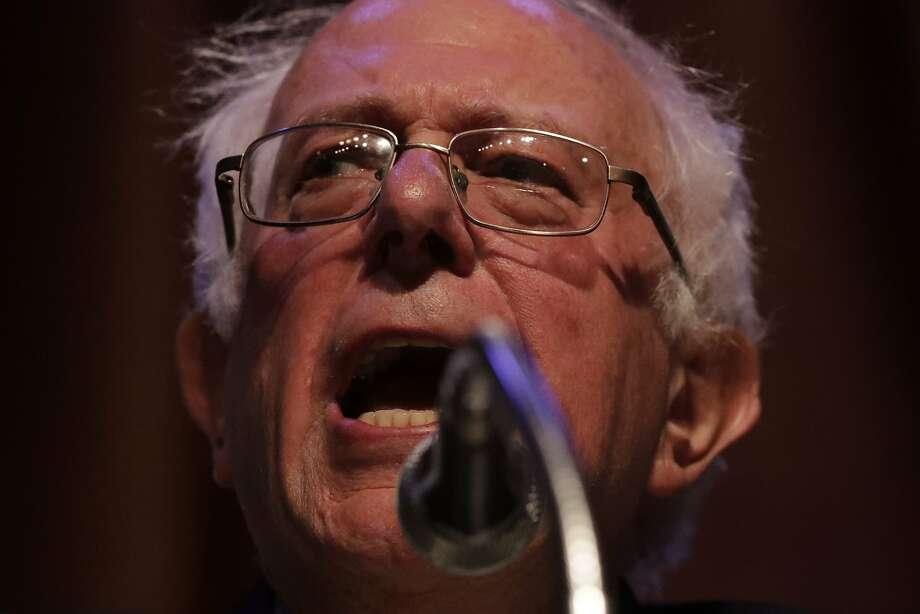 U.S. Senator Bernie Sanders Photo: Paul Kuroda, Special To The Chronicle