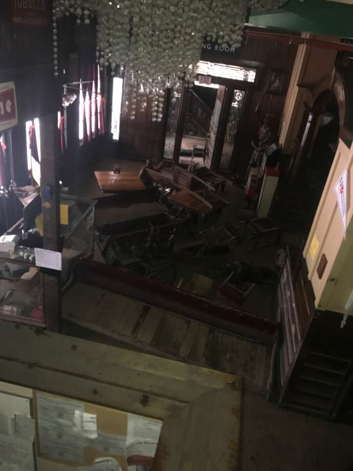 While the Spaghetti Warehouse's top brass figure out what will happen to the flood-damaged downtown Houston location they have released a handful of photos of what Hurricane Harvey did to the Italian joint. Photo: David Ayers / Spaghetti Warehouse