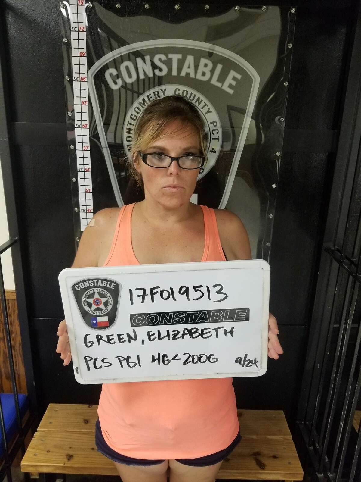 Elizabeth Green, 32, is charged with possession of a controlled substance in Montgomery County after her Sept. 24, 2017 arrest near Cleveland.