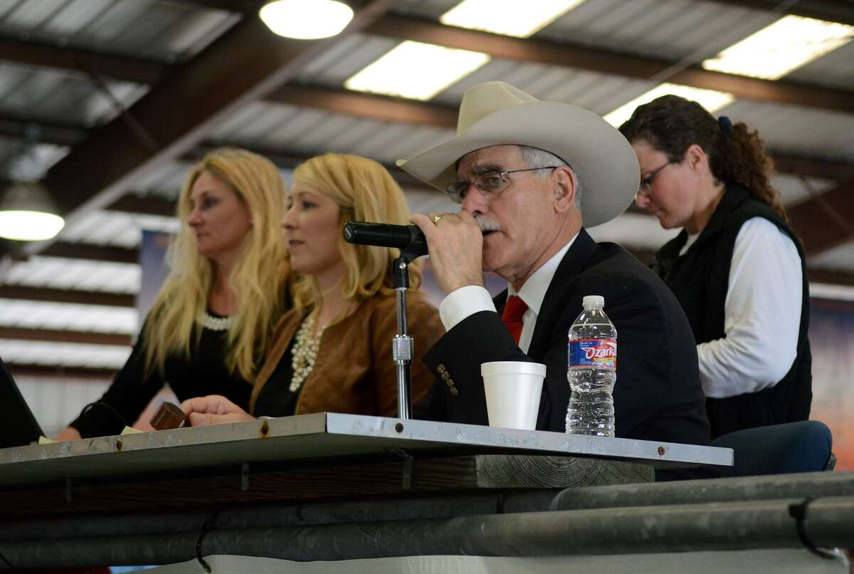 Randolph Holford will be the auctioneer at the Oct. 21 auction of the Harris County Fair. The fair will be held in Hempstead this year because of flooding at the Houston Farm & Ranch Club, its traditional site.