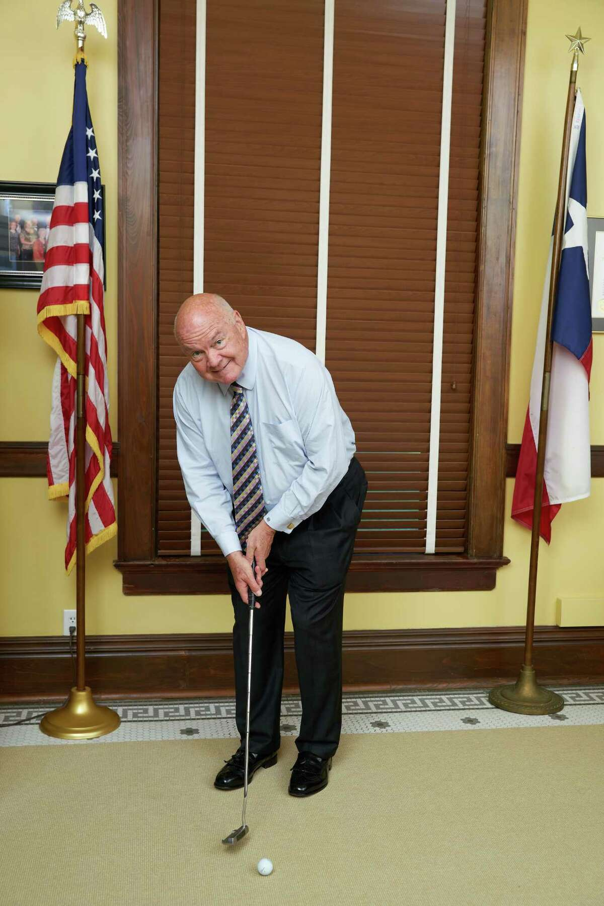 Fort Bend CountyJudge Robert Hebert challenges all 18 city mayors, city leaders, local representatives and the Fort Bend community to hit the fairways to raise funds for local families, including those affected by Hurricane Harvey. Golf �