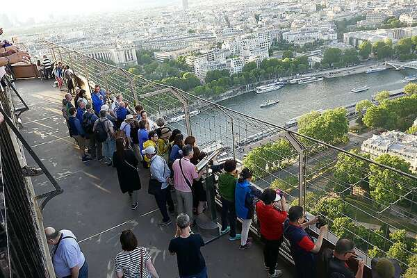 Paris views are better from the tower's second level than its very top, as you're closer to the city's rooftops.
