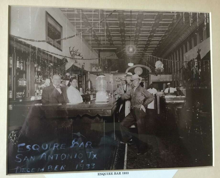Rick Grinnan, who owned The Esquire Tavern from 1981 through 2008, acquired this picture of the bar that was taken soon after it opened for business after Prohibition ended on Dec. 5, 1933. Photo: Courtesy Of Rick Grinnan